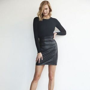 Karlie Kloss Leather Mini Skirt